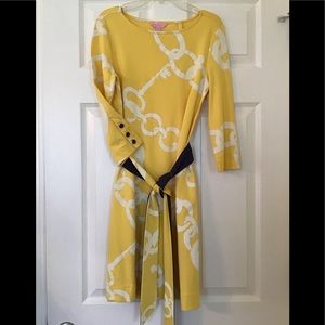 Lilly Pulitzer Straight Stretch Belted Dress